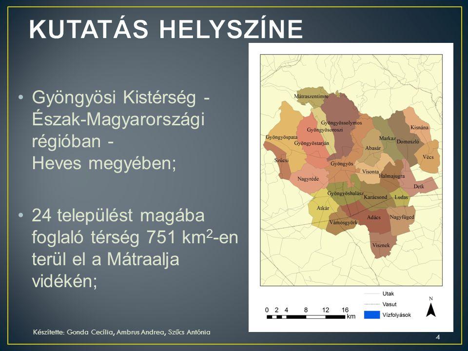 Gyöngyösi Kistérség - Észak-Magyarországi régióban - Heves megyében; 24 települést magába foglaló térség 751 km 2 -en terül el a Mátraalja vidékén; Ké