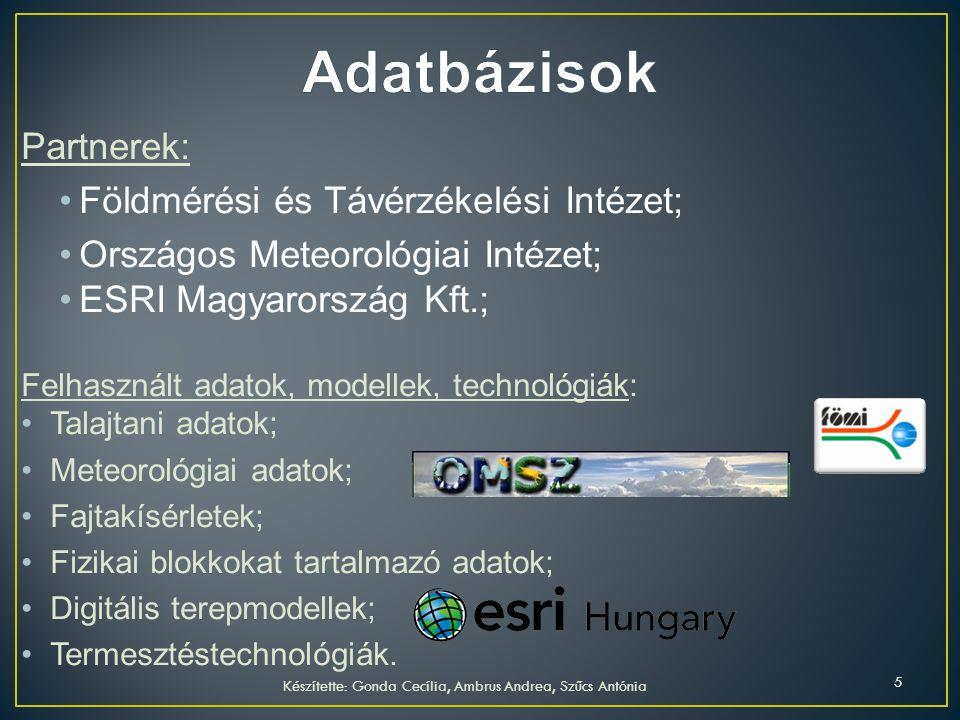 Partnerek: Földmérési és Távérzékelési Intézet; Országos Meteorológiai Intézet; ESRI Magyarország Kft.; Felhasznált adatok, modellek, technológiák: Ta