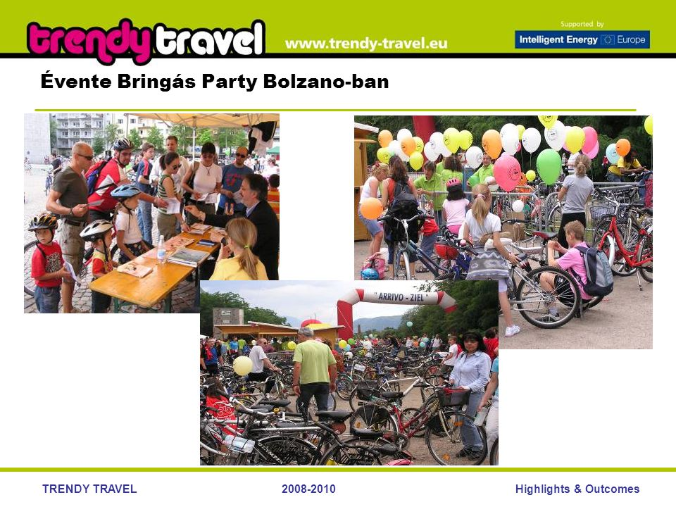Highlights & OutcomesTRENDY TRAVEL2008-2010 Évente Bringás Party Bolzano-ban