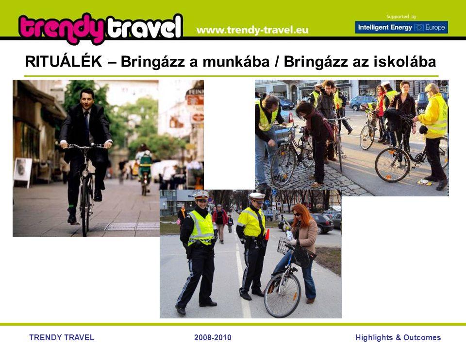 Highlights & OutcomesTRENDY TRAVEL2008-2010 RITUÁLÉK – Bringázz a munkába / Bringázz az iskolába