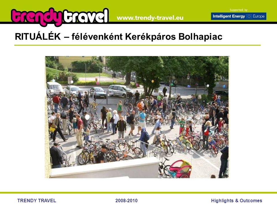 Highlights & OutcomesTRENDY TRAVEL2008-2010 RITUÁLÉK – félévenként Kerékpáros Bolhapiac
