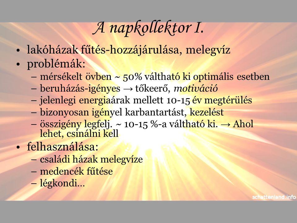 A napkollektor II.működése 1. működés 2.