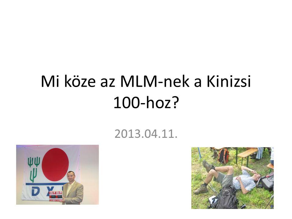 Mi köze az MLM-nek a Kinizsi 100-hoz? 2013.04.11.