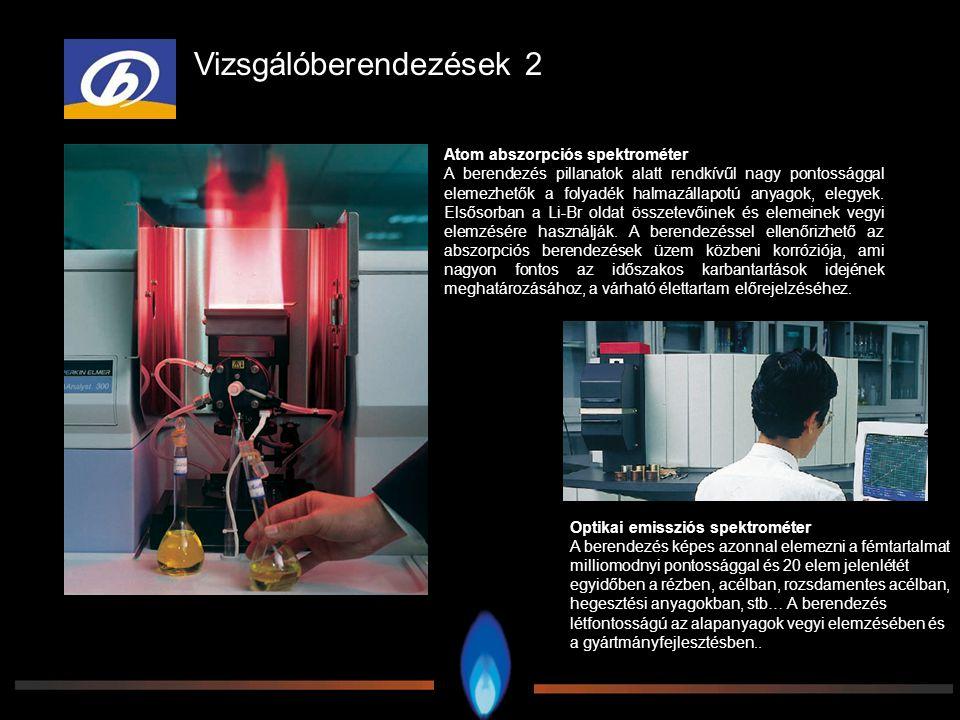 Optikai emissziós spektrométer A berendezés képes azonnal elemezni a fémtartalmat milliomodnyi pontossággal és 20 elem jelenlétét egyidőben a rézben,