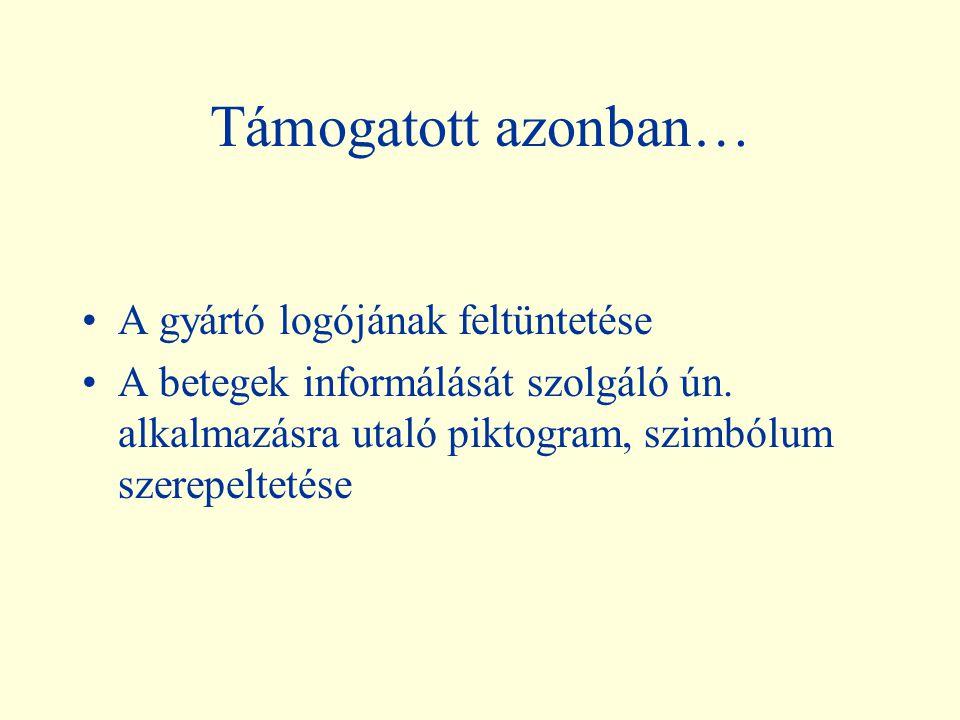 """A gyógyszer azonosítását szolgáló ábrák (""""gyógyszerlogók"""") tehát nem támogatottak (még a legegyszerűbbek sem!) Abcde 25mg kapszula Fghijk 50mg tablett"""