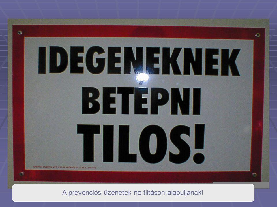 A prevenciós üzenetek ne tiltáson alapuljanak!