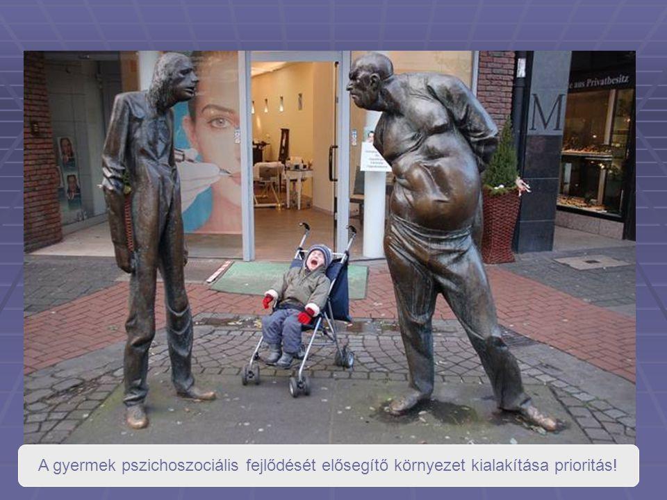 A gyermek pszichoszociális fejlődését elősegítő környezet kialakítása prioritás!
