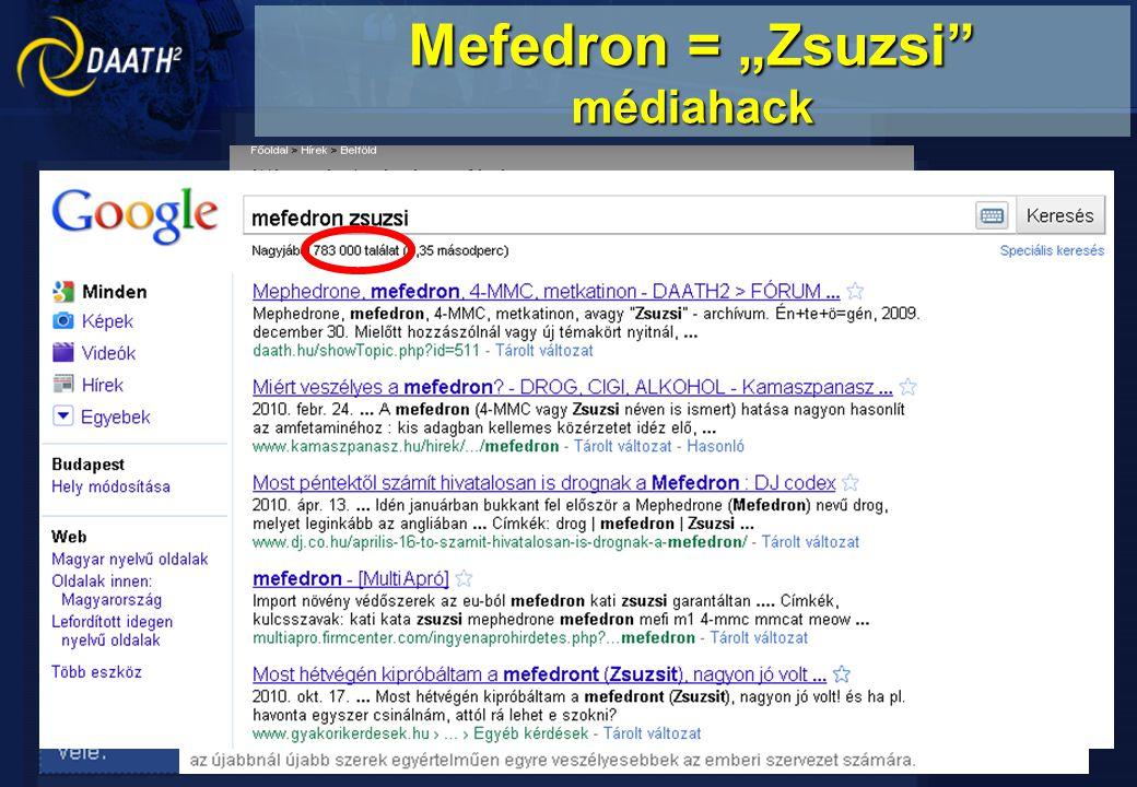 "Mefedron = ""Zsuzsi"" médiahack"