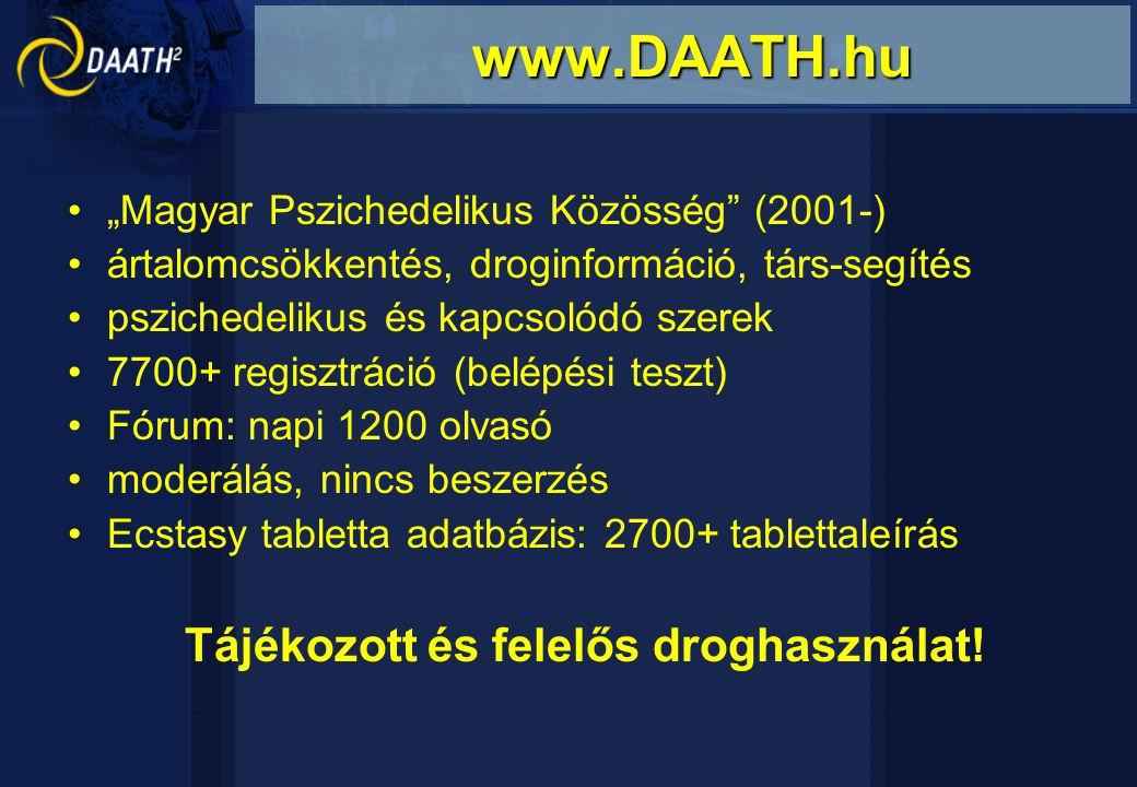 """""""Magyar Pszichedelikus Közösség"""" (2001-) ártalomcsökkentés, droginformáció, társ-segítés pszichedelikus és kapcsolódó szerek 7700+ regisztráció (belép"""
