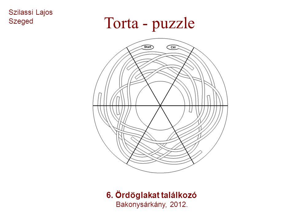 Szilassi Lajos Szeged Torta - puzzle 6. Ördöglakat találkozó Bakonysárkány, 2012.