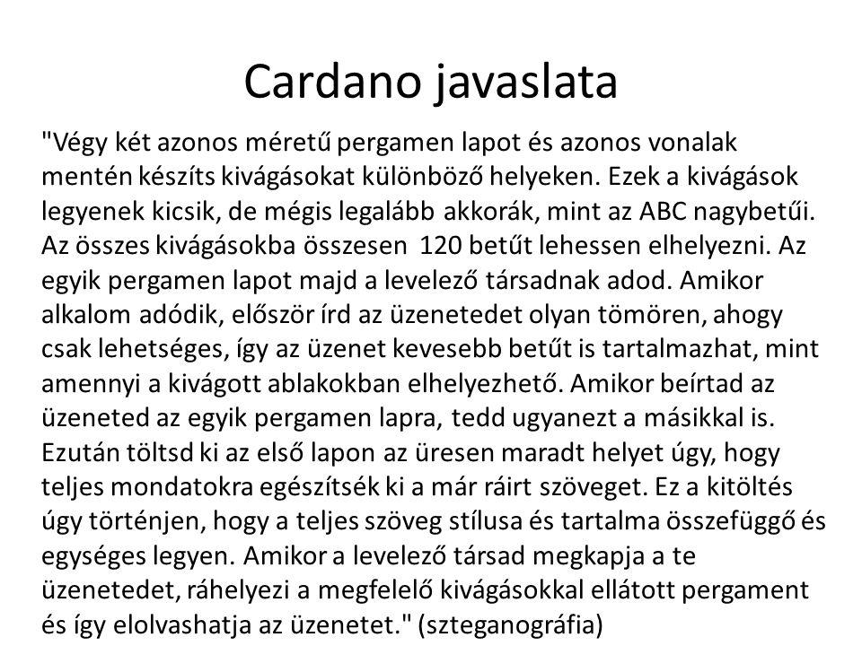 Cardano javaslata