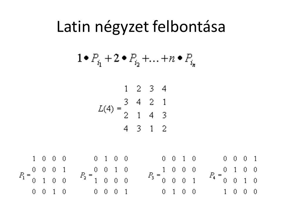 Latin négyzet felbontása