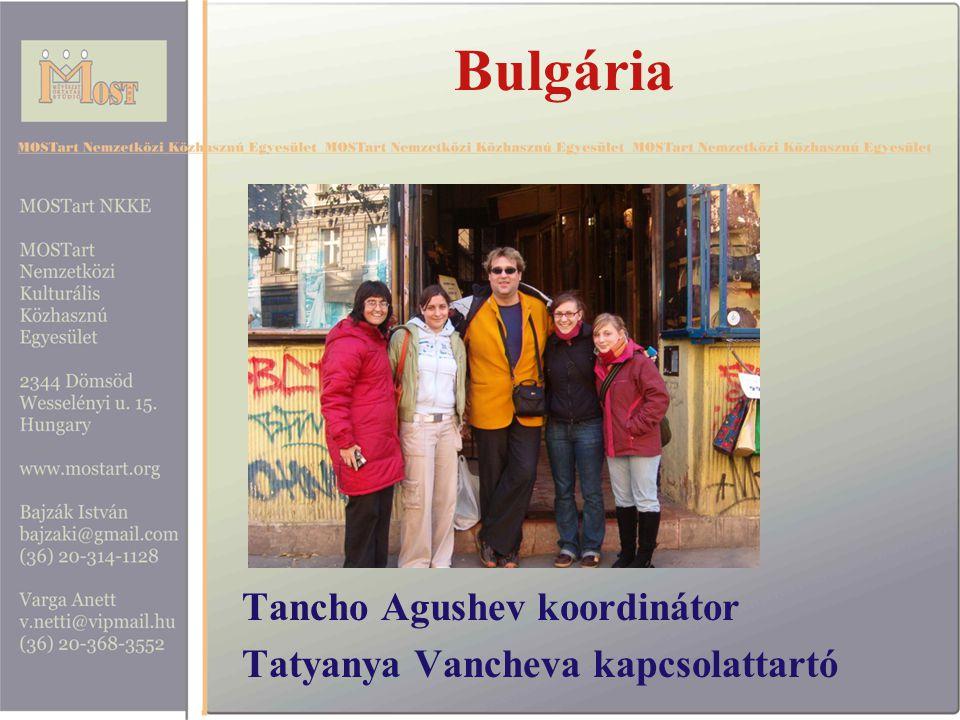 Bulgária Tancho Agushev koordinátor Tatyanya Vancheva kapcsolattartó
