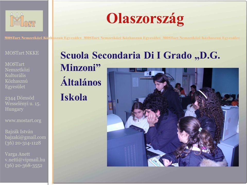 """Olaszország Scuola Secondaria Di I Grado """"D.G. Minzoni Általános Iskola"""