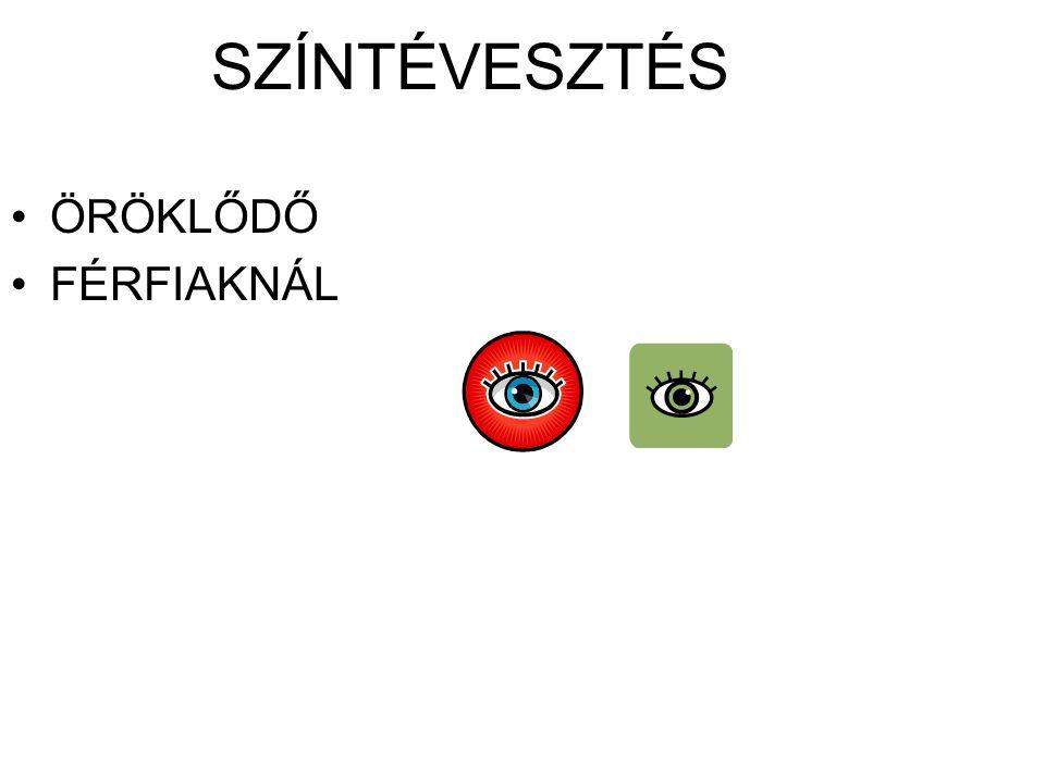 SZÍNTÉVESZTÉS ÖRÖKLŐDŐ FÉRFIAKNÁL