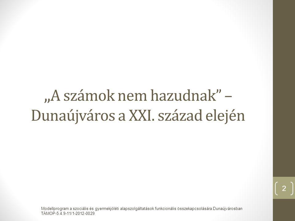 """"""" A számok nem hazudnak – Dunaújváros a XXI."""