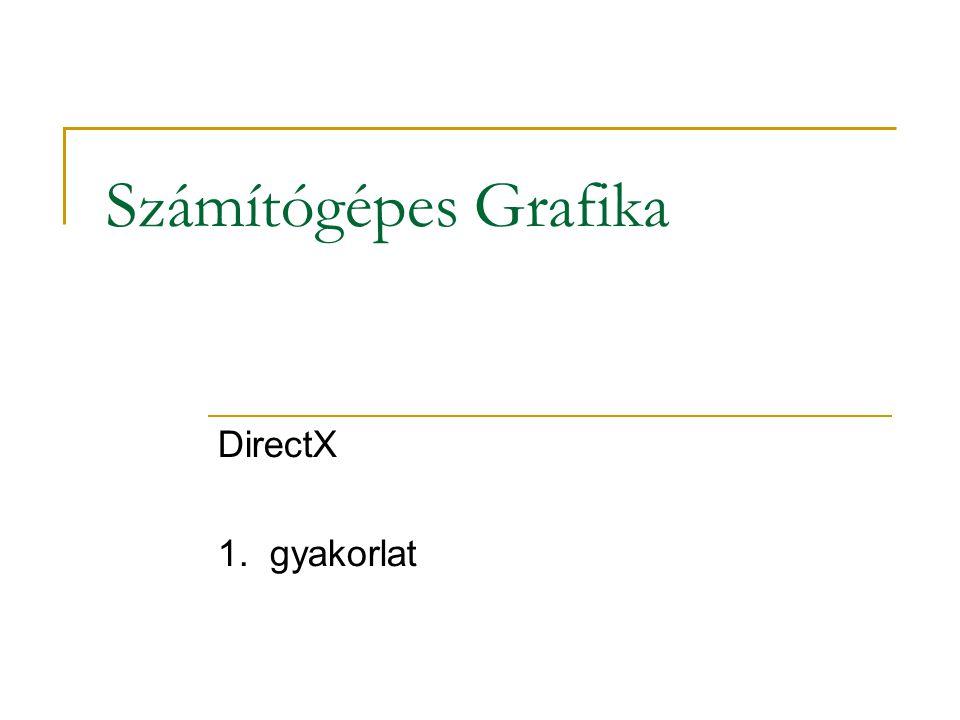 Számítógépes Grafika DirectX 1. gyakorlat