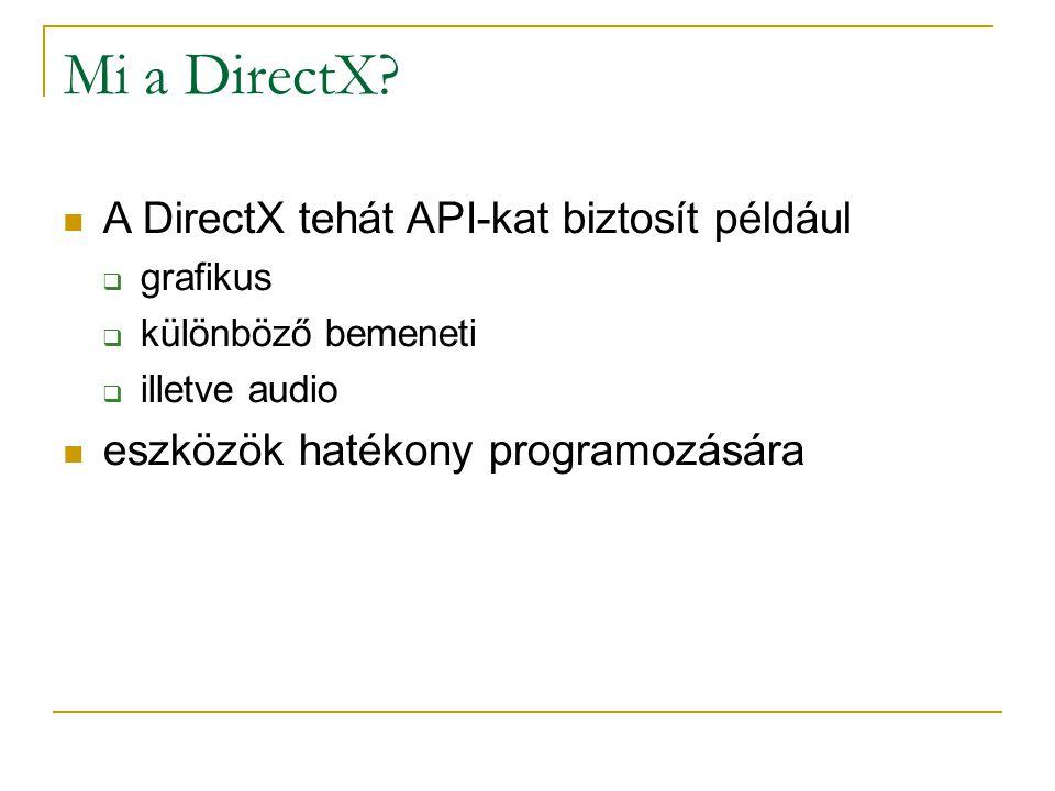 Mi a DirectX.
