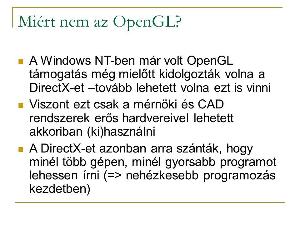 Miért nem az OpenGL.
