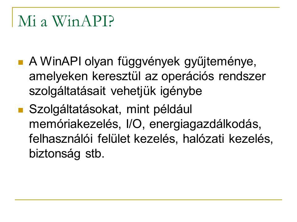 Mi a WinAPI.