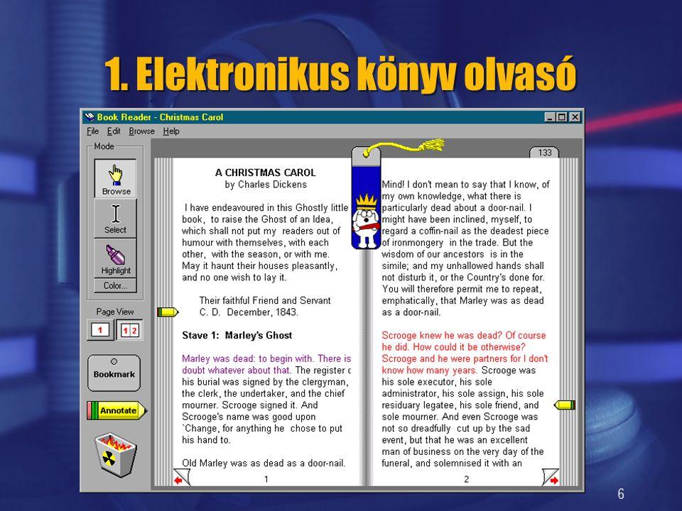 6 1. Elektronikus könyv olvasó