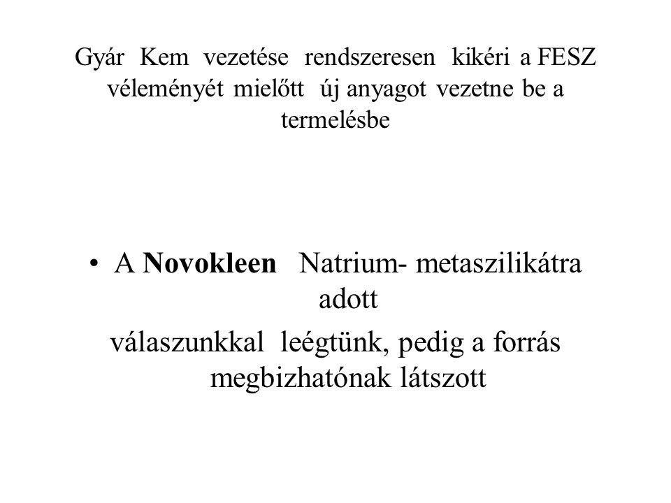 Novakleen biztonsági adatlapja alapján annak sensibilizáló hatását találtam meg, karcinogen hatást egyik alkotó elem sem tartalmazott.