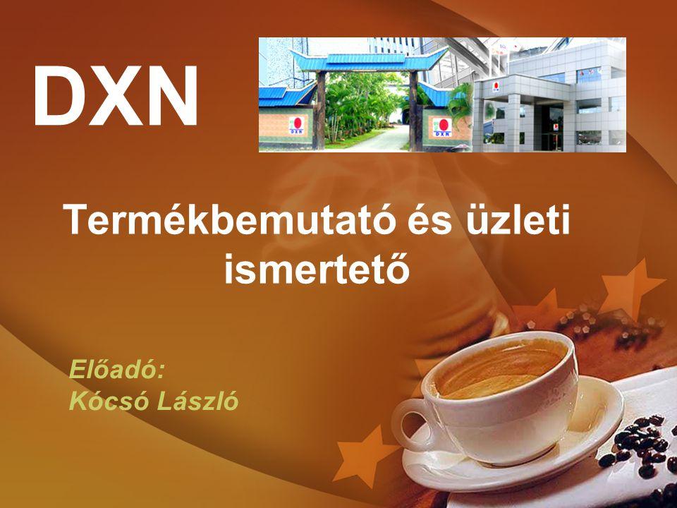 Termékbemutató és üzleti ismertető DXN Előadó: Kócsó László