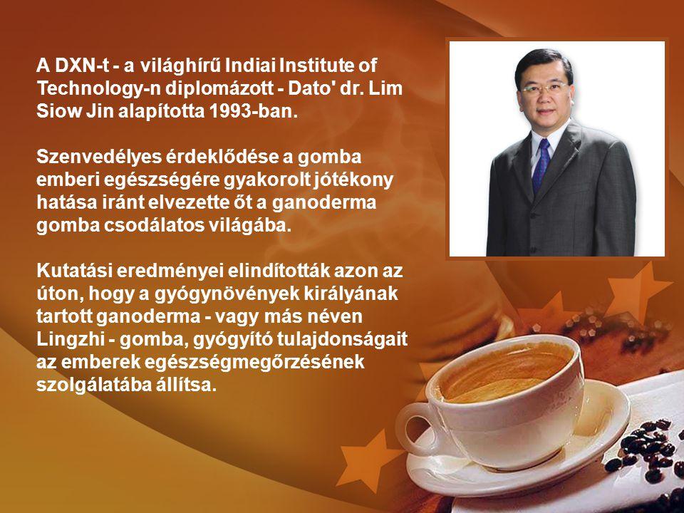 A DXN-t - a világhírű Indiai Institute of Technology-n diplomázott - Dato' dr. Lim Siow Jin alapította 1993-ban. Szenvedélyes érdeklődése a gomba embe