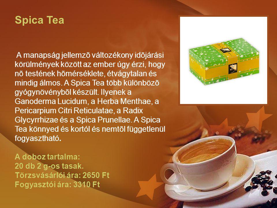 Spica Tea A manapság jellemzõ változékony idõjárási körülmények között az ember úgy érzi, hogy nõ testének hõmérséklete, étvágytalan és mindig álmos.