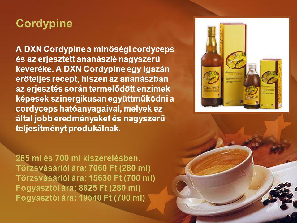 Cordypine A DXN Cordypine a minőségi cordyceps és az erjesztett ananászlé nagyszerű keveréke. A DXN Cordypine egy igazán erőteljes recept, hiszen az a