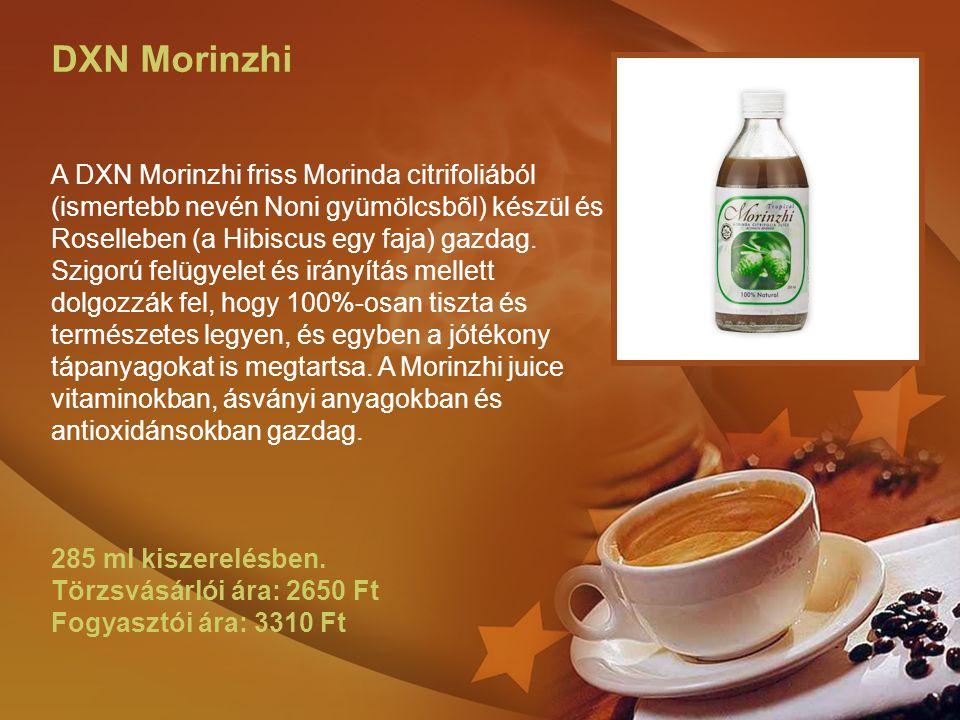 DXN Morinzhi A DXN Morinzhi friss Morinda citrifoliából (ismertebb nevén Noni gyümölcsbõl) készül és Roselleben (a Hibiscus egy faja) gazdag. Szigorú