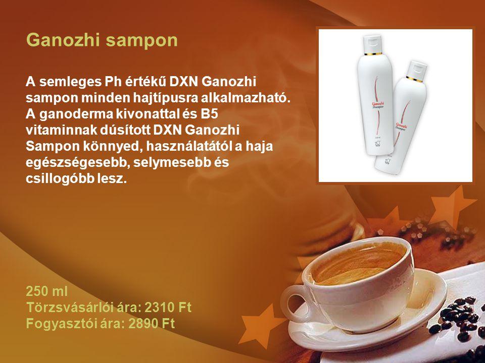 Ganozhi sampon A semleges Ph értékű DXN Ganozhi sampon minden hajtípusra alkalmazható. A ganoderma kivonattal és B5 vitaminnak dúsított DXN Ganozhi Sa