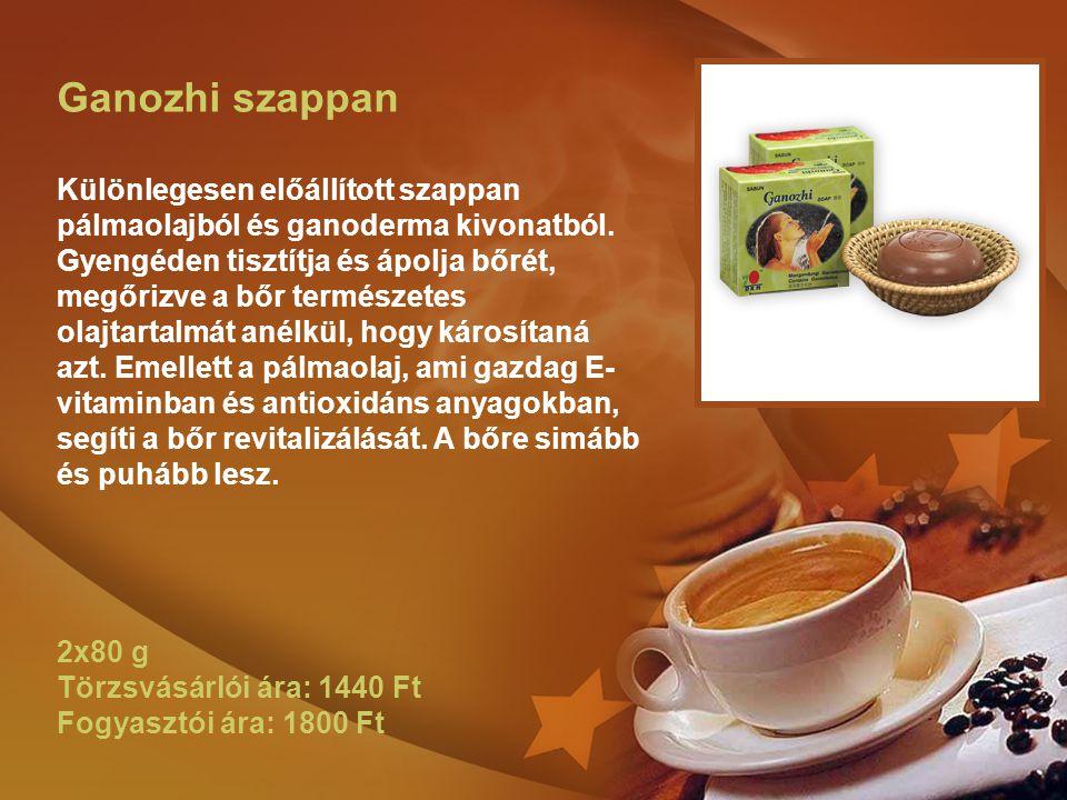 Ganozhi szappan Különlegesen előállított szappan pálmaolajból és ganoderma kivonatból. Gyengéden tisztítja és ápolja bőrét, megőrizve a bőr természete