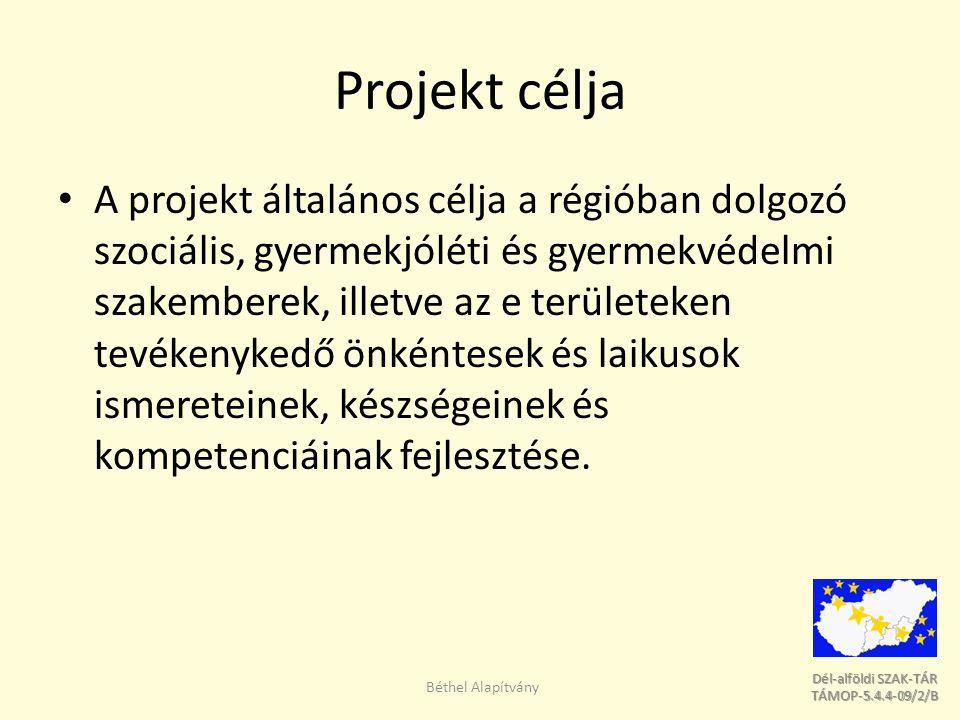 Dél-alföldi SZAK-TÁR Dél-alföldi SZAK-TÁR TÁMOP-5.4.4-09/2/B TÁMOP-5.4.4-09/2/B Projekt célja A projekt általános célja a régióban dolgozó szociális,