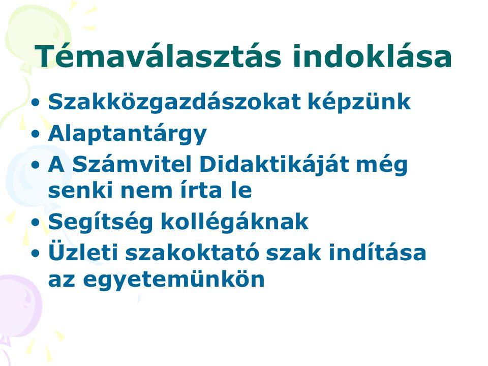 A kutatás előzményei Szakirodalmi anyag áttekintése Óralátogatások, jegyzőkönyvek készítése Interjúk kollégákkal Tankönyvek elemezése Kari önértékelés tartalomelemzése