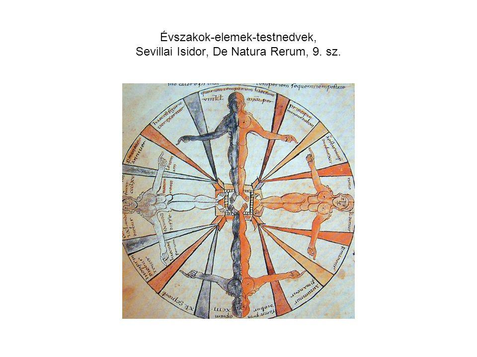 Évszakok-elemek-testnedvek, Sevillai Isidor, De Natura Rerum, 9. sz.