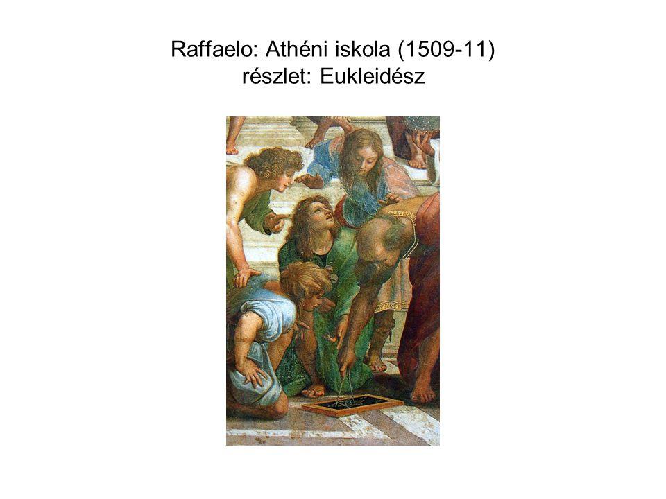 Raffaelo: Athéni iskola (1509-11) részlet: Eukleidész