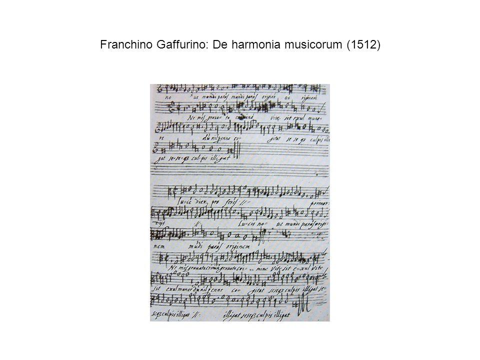 Franchino Gaffurino: De harmonia musicorum (1512)