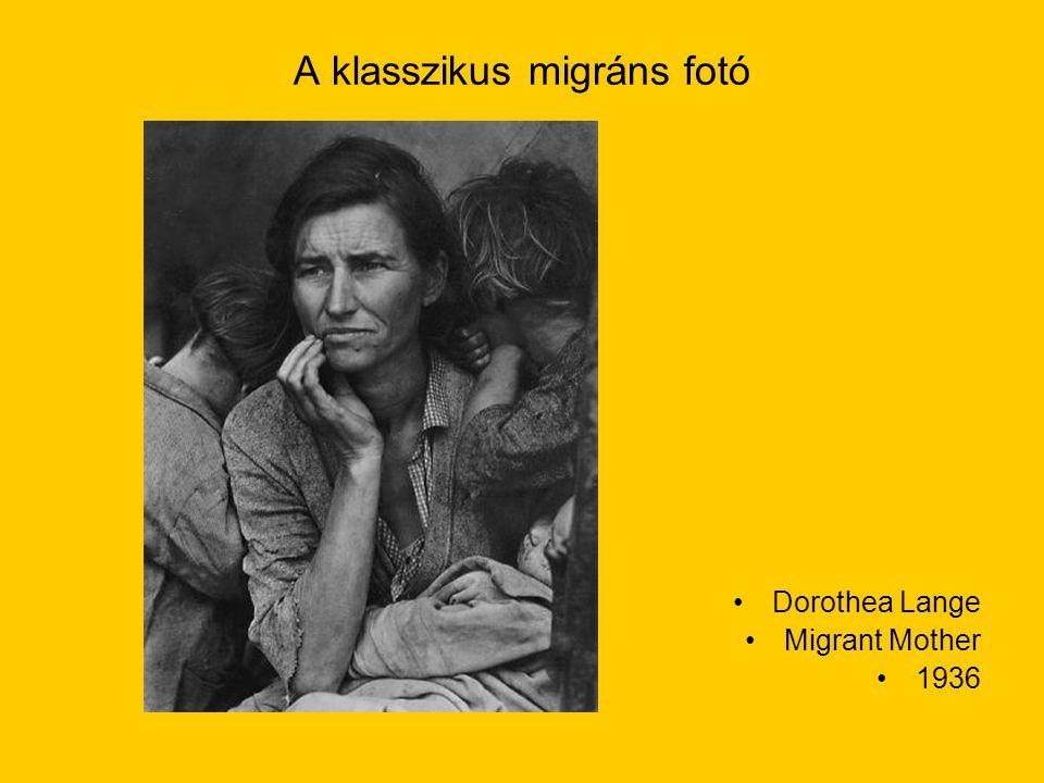 A klasszikus migráns fotó Dorothea Lange Migrant Mother 1936