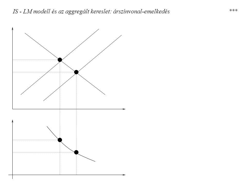 IS - LM modell és az aggregált kereslet: árszínvonal-emelkedés ***