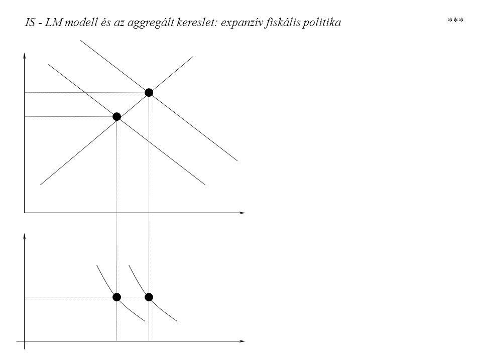 IS - LM modell és az aggregált kereslet: expanzív fiskális politika ***
