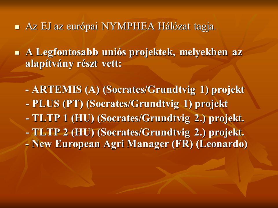 Az EJ az európai NYMPHEA Hálózat tagja. Az EJ az európai NYMPHEA Hálózat tagja.