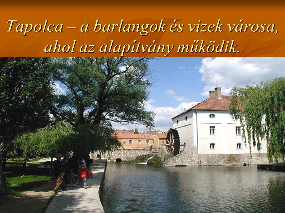 Tapolca – a barlangok és vizek városa, ahol az alapítvány működik.
