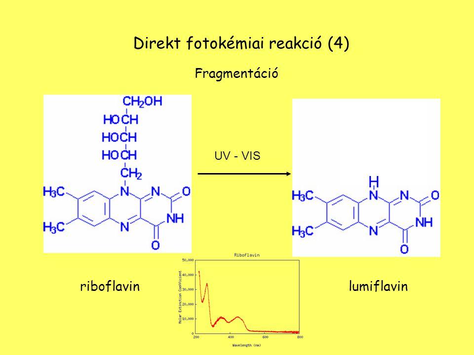+ O 2 + hν C C C C CH CH 3 H3CH3C H3CH3C H2H2 H2H2 H2H2 3β-Hydroxy-5ά-hydroperosy-Δ 6 -cholestene Direkt fotokémiai reakció (5) C C C C CH CH 3 H3CH3C H3CH3C H2H2 H2H2 H2H2 OOH Oxidáció cholesterol
