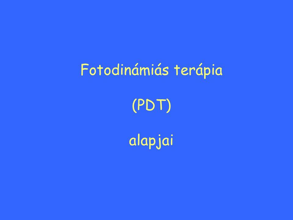 Fotodinámiás terápia (PDT) alapjai