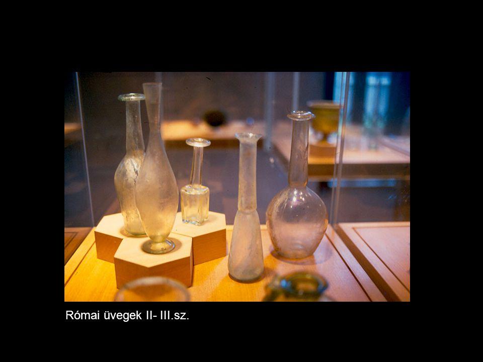 Római üvegek II- III.sz.