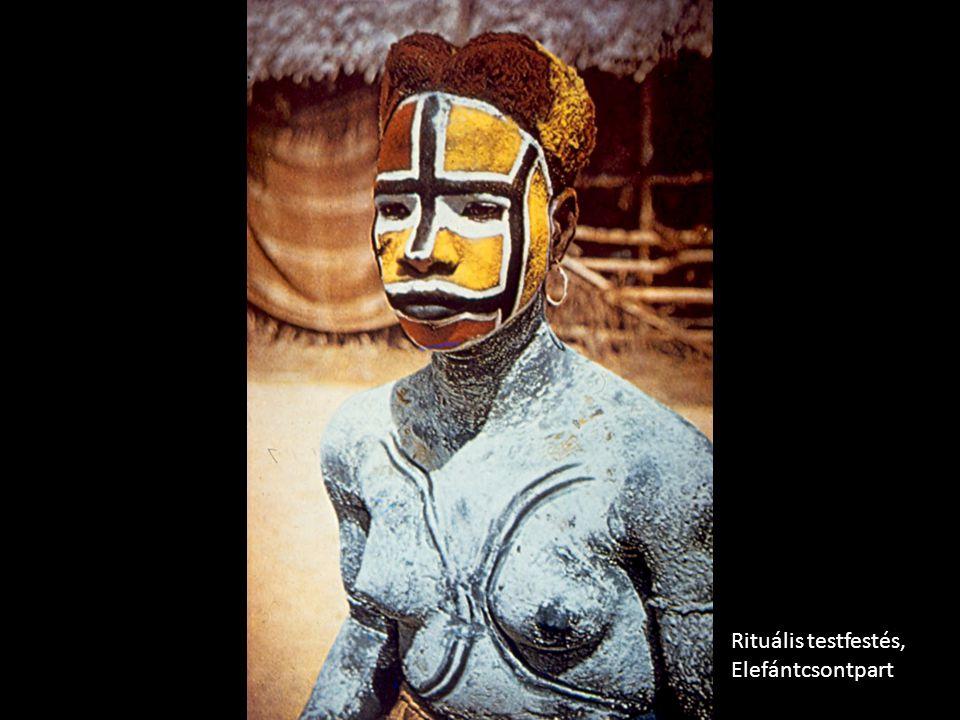 Rituális testfestés, Elefántcsontpart