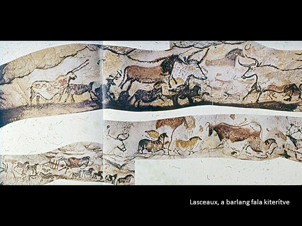Lasceaux, a barlang fala kiterítve