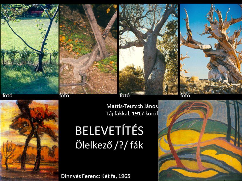 BELEVETÍTÉS Ölelkező /?/ fák Dinnyés Ferenc: Két fa, 1965 Mattis-Teutsch János Táj fákkal, 1917 körül fotó
