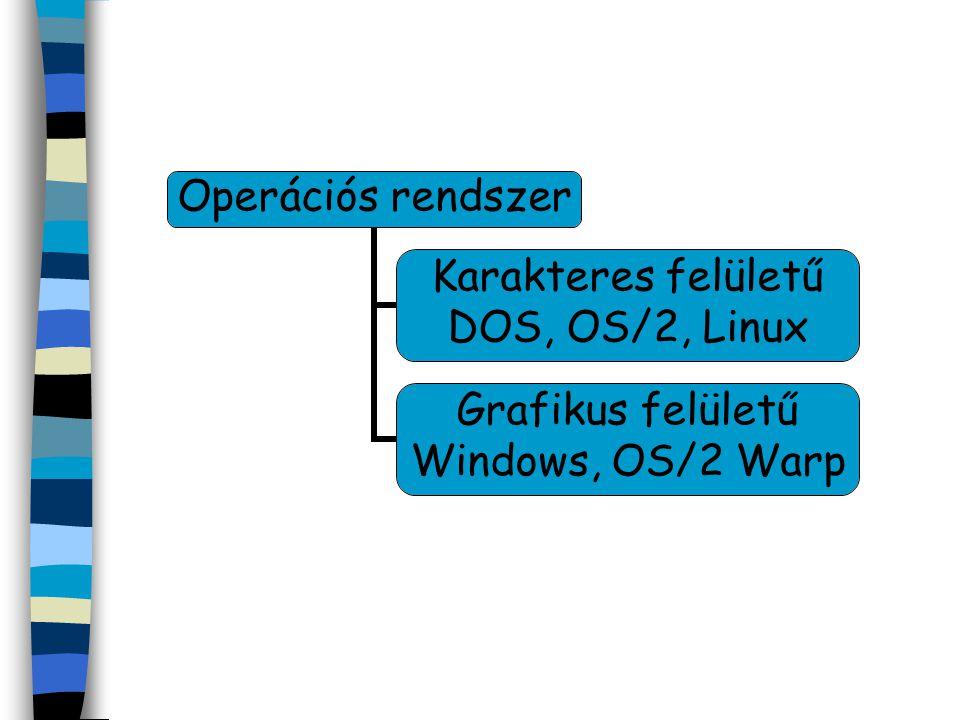 Karakteres operációs rendszerek Ez a csoport nem kíván sok erőforrást, de a használatához sok és alapos ismeret szükséges, mivel már egy hiba is eredménytelenséget okozhat.